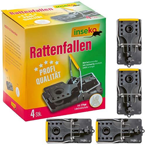 inseko Profi-Rattenfallen I sehr hochwertig I wiederverwendbar I inklusive Handschuhe (4)