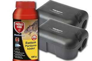 Koeder Discount Sparset Rattenbekaempfung 2 Koederboxen Plus 500g Rodicum Rattengift 310x205 - Köder-Discount Sparset Rattenbekämpfung - 2 Köderboxen Plus 500g Rodicum Rattengift